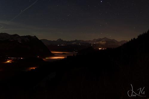 Nuit sur la vallée du Risse