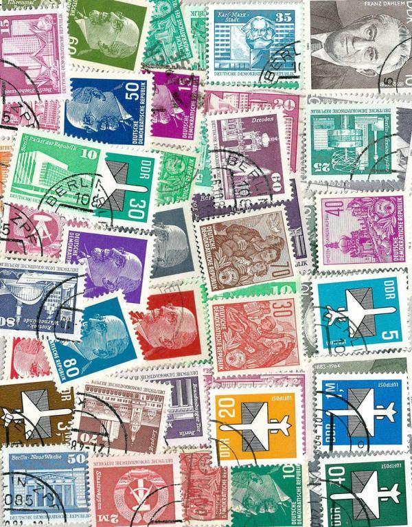 Známky NDR balíček 46 ks rôznych