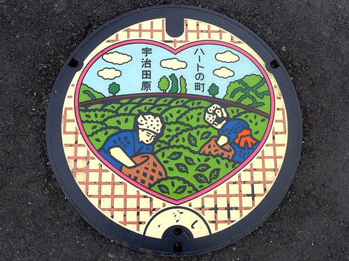 Ujitawara Kyoto, manhole cover 2 (京都府宇治田原町のマンホール2)