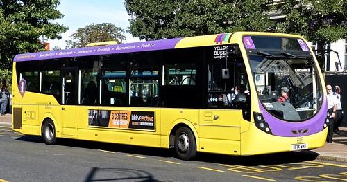 HF14 BWO 'Yellow Buses' No. 861 'lilac 1'. Wright Streetlite D/F on Dennis Basford's railsroadsrunways.blogspot.co.uk'