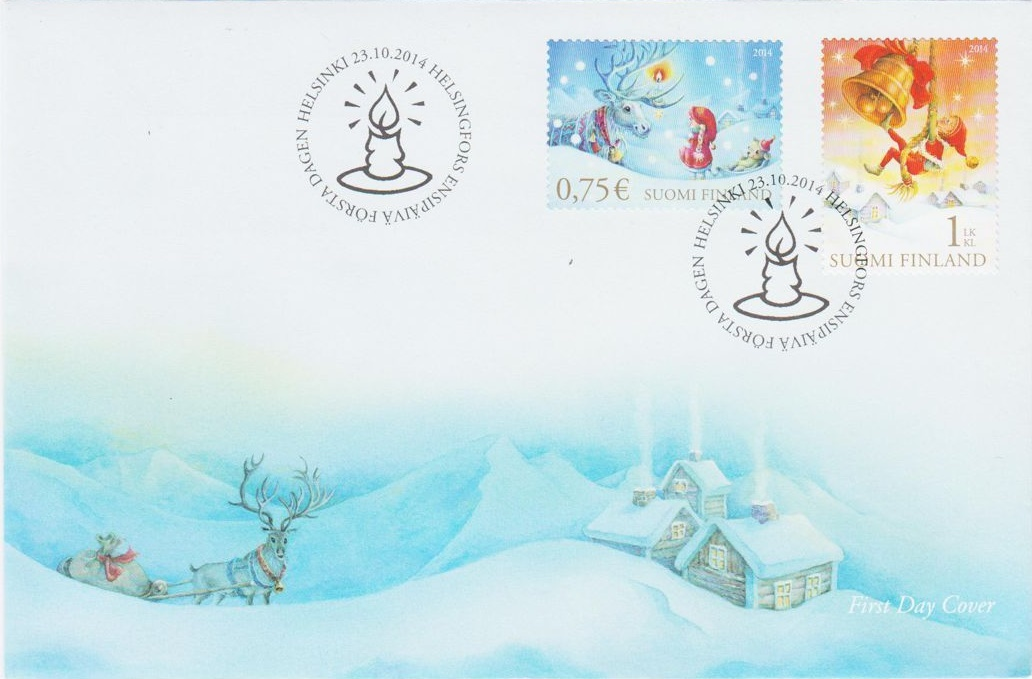 Finland - Scott #1479-1480 (2014) first day cover