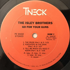 THE ISLEY BROTHERS:GO FOR YOUR GUNS(LABEL SIDE-A)
