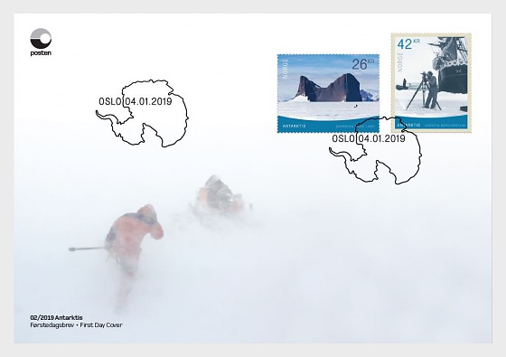 Norway - Antarctica (January 4, 2019) first day cover