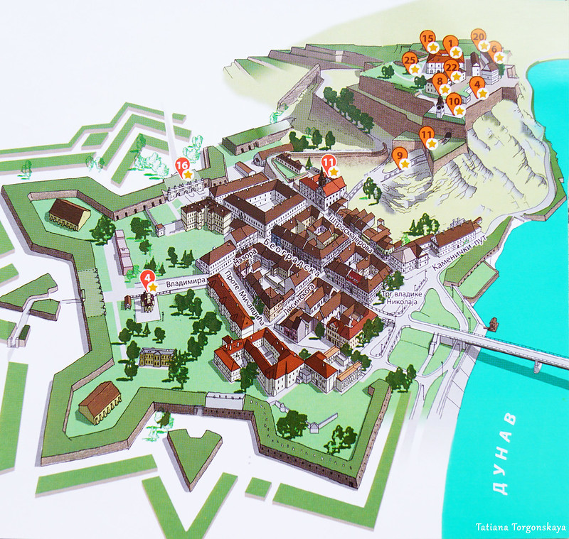 Туристическая карта Петроварадина