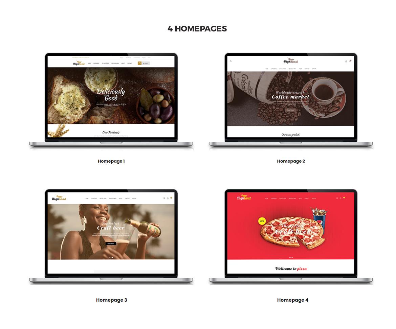 multi homepage - Bos Highlands - Food and Drink Prestashop Theme