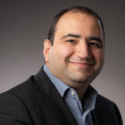 A headshot of Farman Kaveh