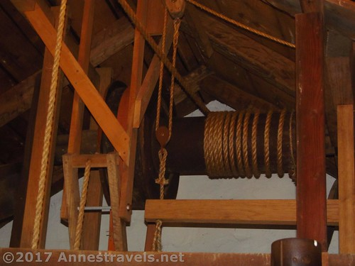 The hoist was powered by the waterwheel at the Cooper Mill in Chester, New Jersey