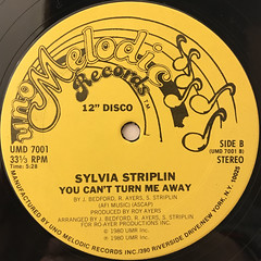 SYLVIA STRIPLIN:GIVE ME YOUR LOVE(LABEL SIDE-B)