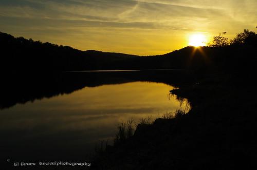 Sunset at Gorges de la Loire environs Saint-Priest-la-Roche