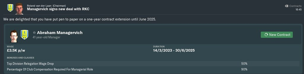 2023 new contract