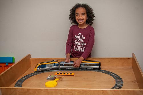 Xavi and lego train