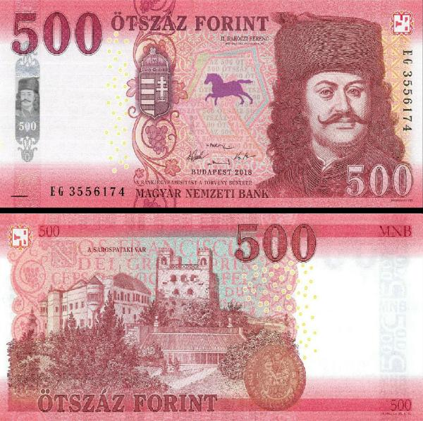 500 Forintov Maďarsko 2018 (2019), P202