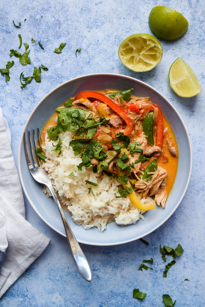 Slow Cooker Thai Red Chicken Curry
