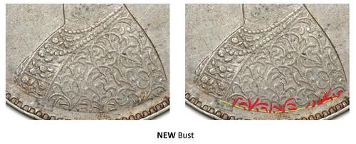 British Indian Half Rupee Bust Variety image01 NEW BUST