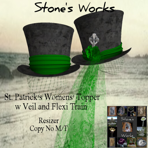 St Paddys Day Top Hat Women's (boxed) Stone's Works