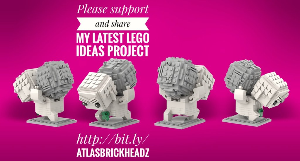 Please support and share my latest LEGO Ideas project, Atlas BrickHeadz.  http://bit.ly/AtlasBrickHeadz