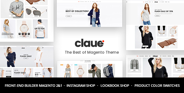 Claue v1.7.6 - Clean, Minimal Magento 2 and 1 Theme