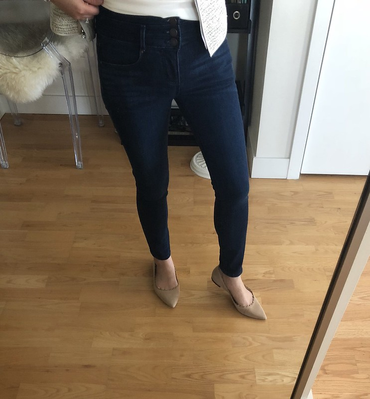 Ann Taylor High Rise Performance Stretch Skinny Jeans, size 25/0P