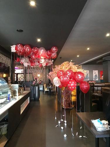 Heliumballonnen Valentijnsdag Goya Sushi Hoogvliet