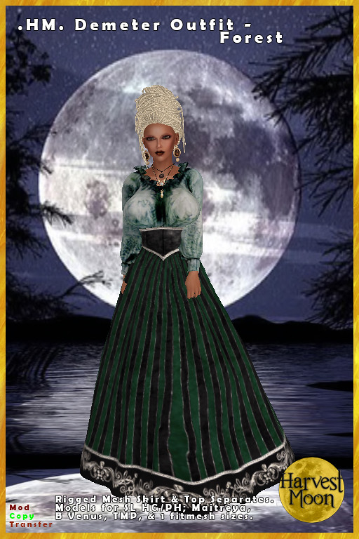 Harvest Moon – Demeter Outfit – Forest