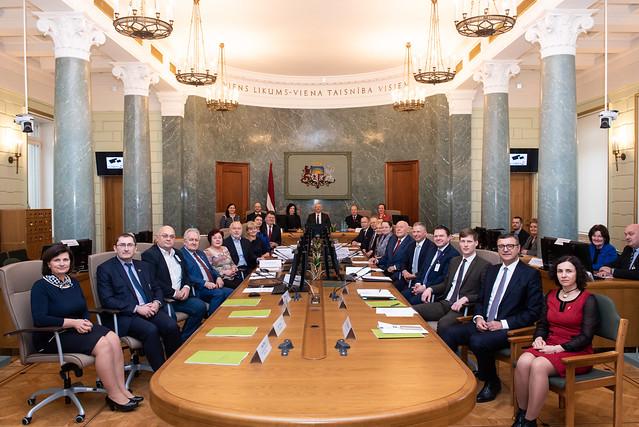 Ministru prezidents Krišjānis Kariņš vada Nacionālās Trīspusējās sadarbības padomes sēdi
