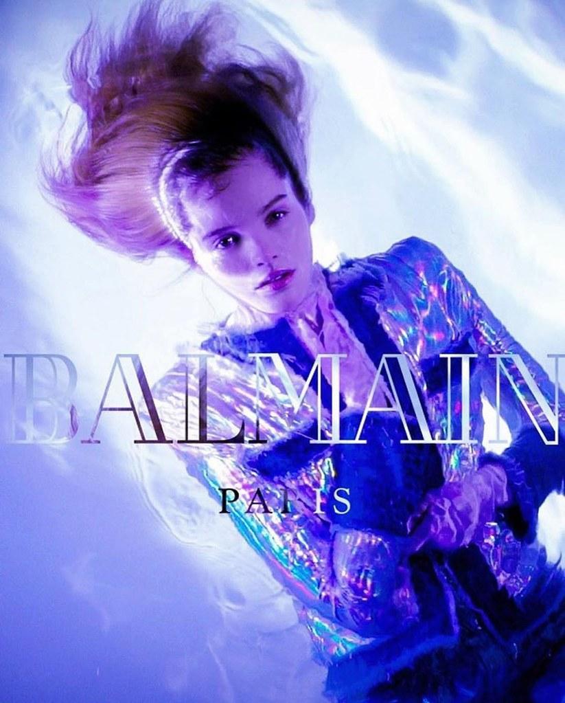 Алексина Грэм для кампании Balmain