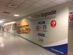 Adhesive vinyl wall barricade at Dulles Airport
