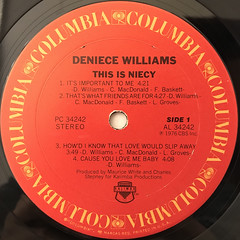 DENIECE WILLAMS:THIS IS NIECY(LABEL SIDE-A)