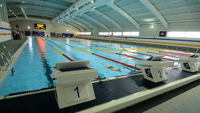 The 50m swimming pool at the Sport Training Village