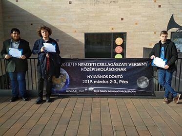 VCSE - Balról jobbra három tagtársunk, aki részt vett a versenyen: Vámosi Flórián, Császár Kornél, Jandó Dániel. Hiányzik. Soós Benjámin. - Jandó Attila felvétele