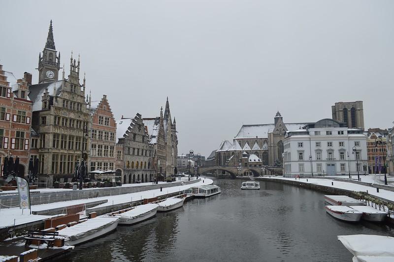 Nieve en Gante
