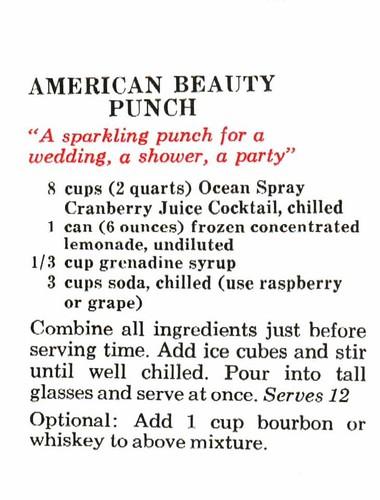 Mix Around With Cranberry Juice, Ocean Spray, 1966