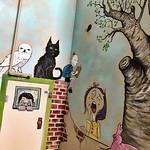 Children`s book mural