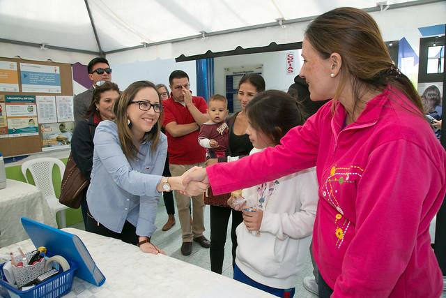 Visita a los servicios de salud en Centro de Atención Fronteriza de Rumichaca