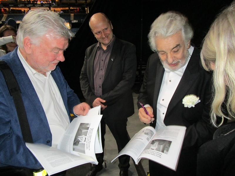 Plácido Domingo meets delegation of Estonian Heritage Society, Tallinn