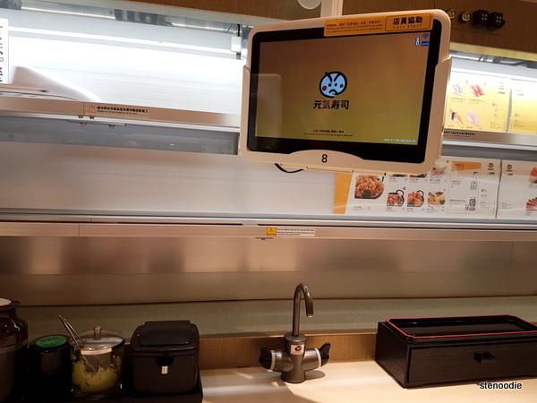 Genki Sushi iPad ordering