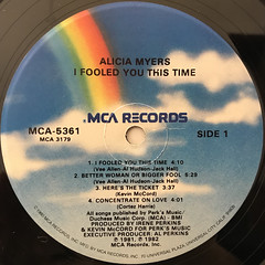 ALICIA MYERS:I FOOLED YOU THIS TIME(LABEL SIDE-A)