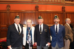 Rep. Hall welcomes  Lucien Lefevre, Donald Hoginski and Joe Annis to the House Chamber