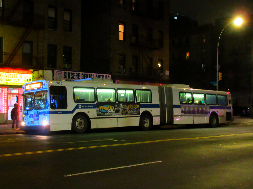 2003 New Flyer D60HF 5676 on the Bx6 at E. 163 Street & Intervale Avenue