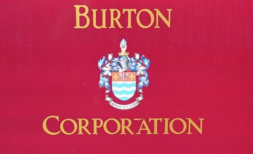 'Burton Corporation' crest on Dennis Basford's railsroadsrunways.blogspot.co.uk'