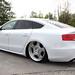 White Audi A5 Sportback on OZ Wheels