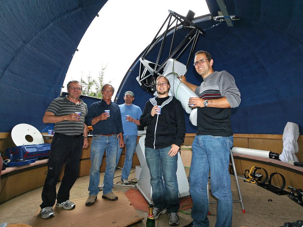 Neues Hauptteleskop Sternwarte (Juli 2011)