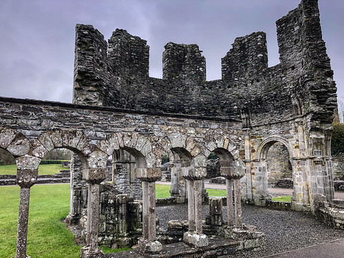 Lavabo of Mellifont Abbey Ruins - County Louth Ireland