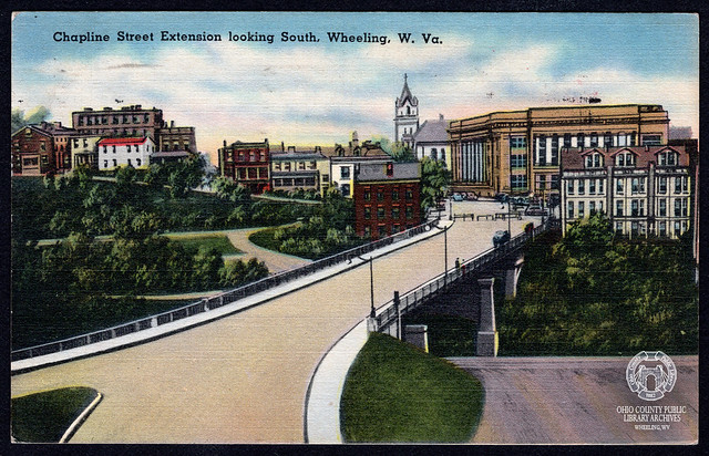 Postcard: Chapline Street Extension looking South, Wheeling, W. Va.