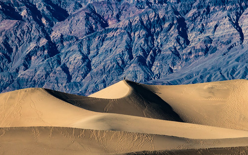 A Tiny Human On Top of the Death Valley Sand Dunes.