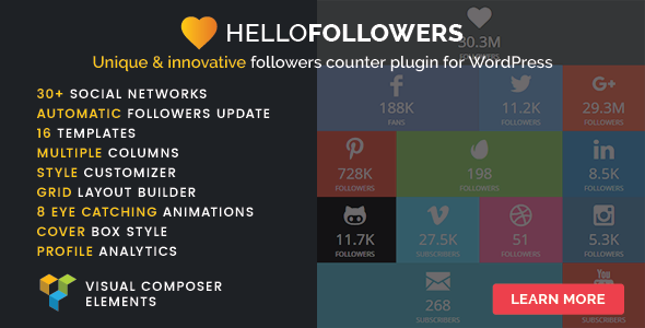 Hello Followers v2.3 - Social Counter Plugin for WordPress