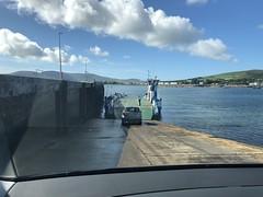 Boarding the car ferry to Valentia Island