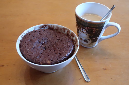 Bananen-Schoko-Tassenkuchen zum Nachmittagskaffee