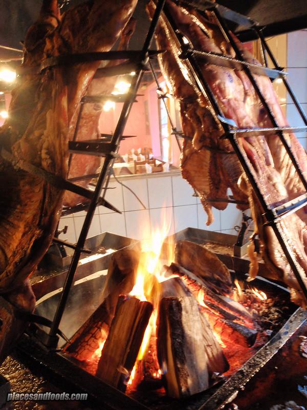 ushuaia bamboo grilled lamb