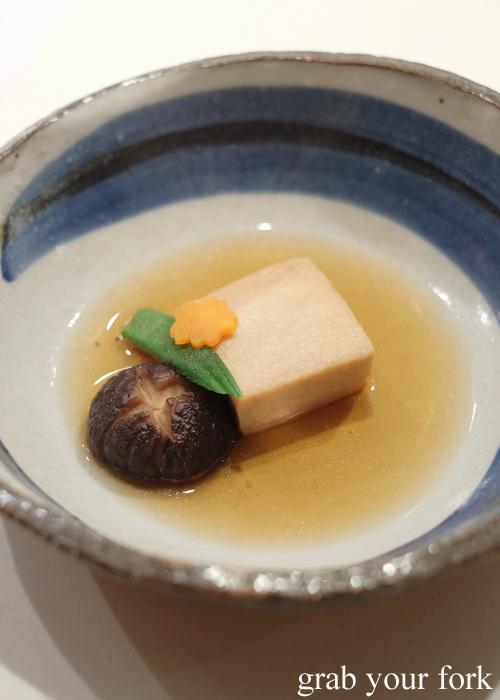 Swordfish belly nitsuke at the omakase by Masuya in Sydney
